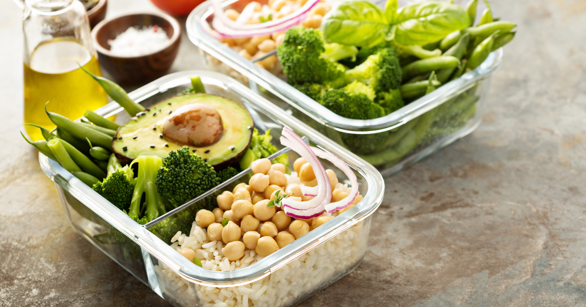 Meal prep. Pack a healthy lunch to stay healthy while working from home. My Fit Habits
